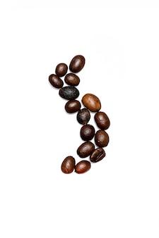 Composición de granos de café aislado