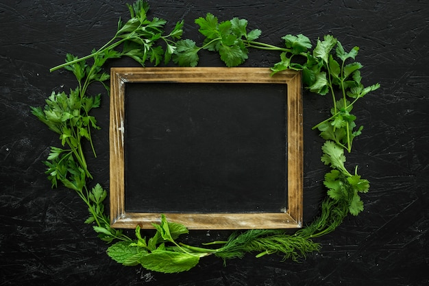 Composición de ingredientes sanos con marco
