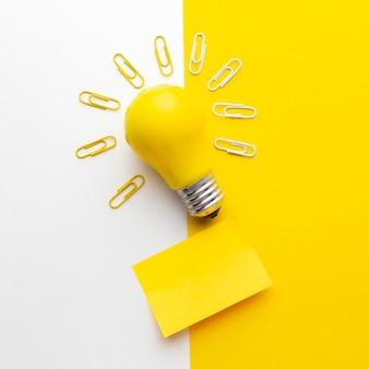 Composición de innovación abstracta vista superior