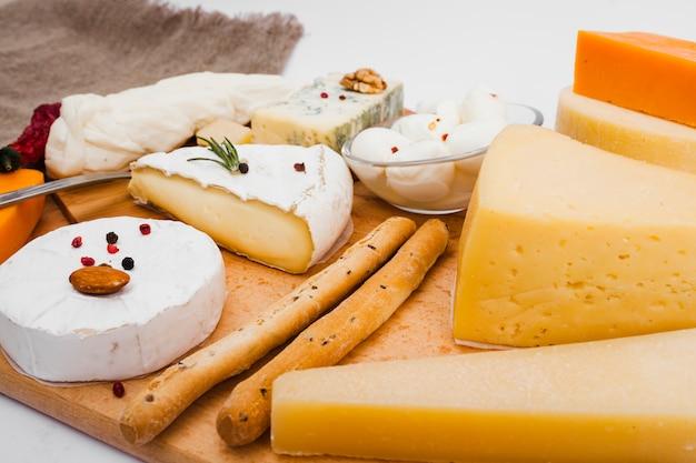 Composición isométrica de queso