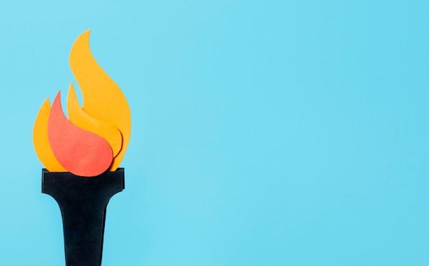 Composición de llama deportiva en estilo papel