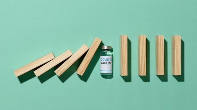 Composición mínima de botellas de vacuna.
