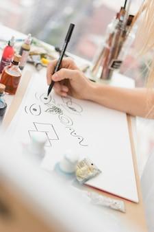 Composición moderna de estudio de arte