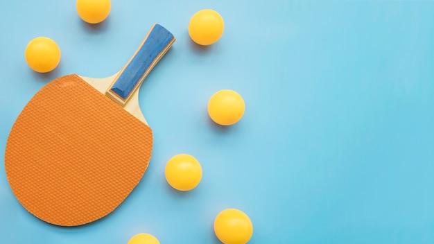 Composición moderna de ping-pong