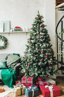 Composición de navidad año nuevo. concepto de vacaciones de invierno