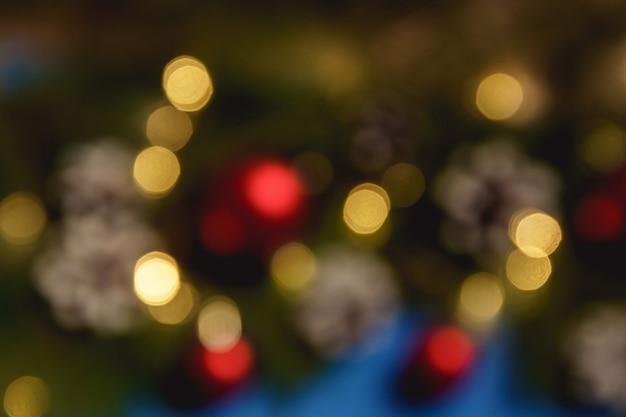 Composición navideña borrosa