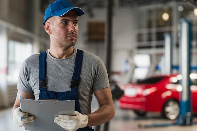 Composición de negocio de reparación de coches