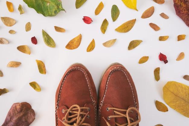 Composición de otoño copyspace de la temporada de otoño.