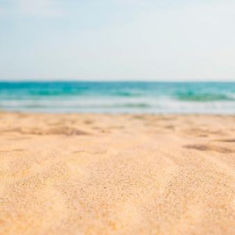 Composición de playa con espacio en blanco para texto