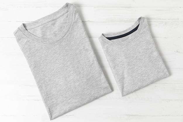 Composición de la ropa de padre e hijo.