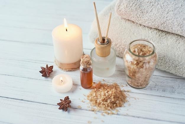 Composición de tratamientos cosméticos y spa.