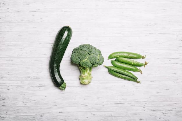 Composición de vegetales verdes