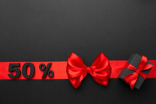 Composición de ventas de viernes negro con espacio de copia
