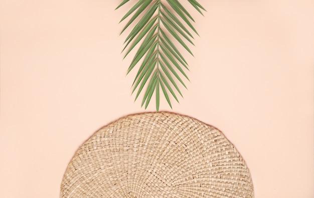 Composición de verano estilo plano laico