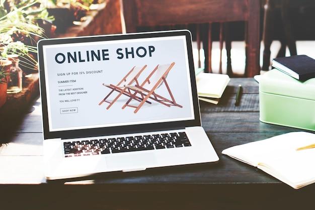 Compras en línea adictos a las compras comercio electrónico concepto de compras electrónicas
