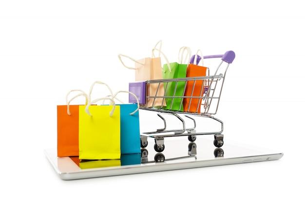 Compras en línea o concepto de comercio electrónico