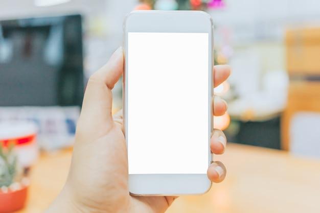 Compras en línea con tableta para maqueta