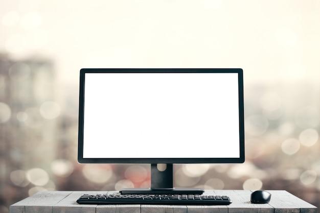 Una computadora moderna aislada