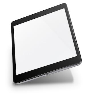 Computadora de la pc de la tableta realista con pantalla en blanco aislada