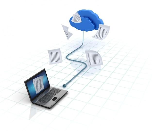 Computadora portátil compartir archivos