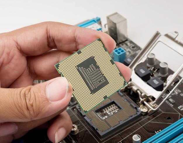 Computer cpu procesor, enfoque selectivo
