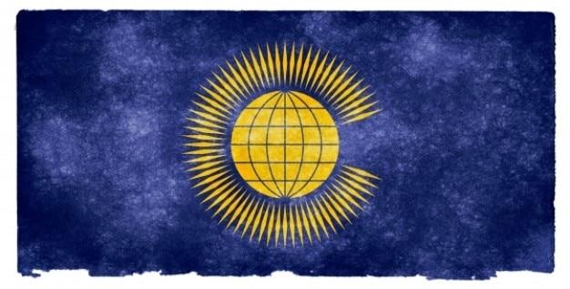 Comunidad de naciones grunge bandera