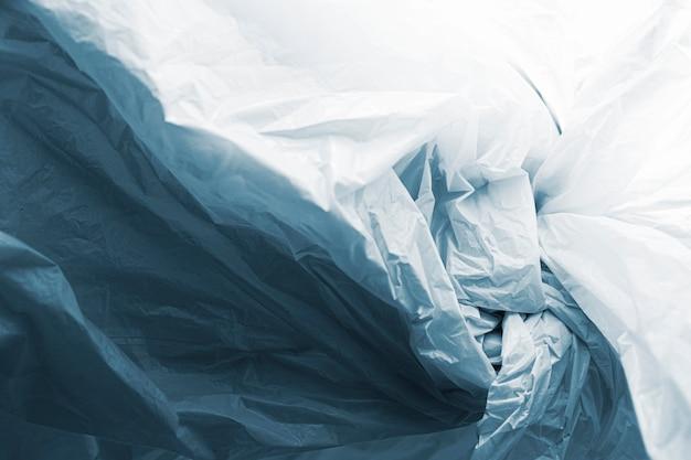 Concepto abstracto de bolsa de plástico
