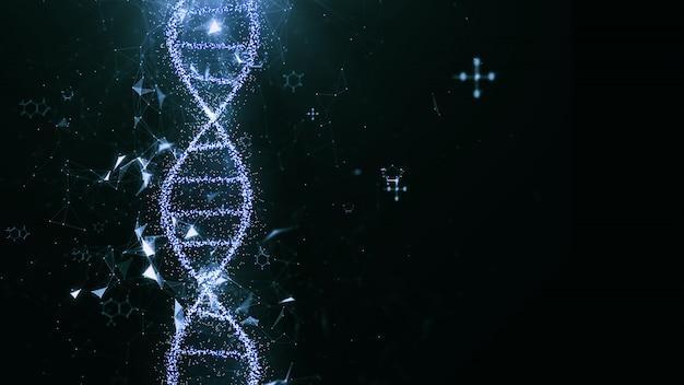 Concepto abstracto de la ciencia de la tecnología, estructura de código de adn.