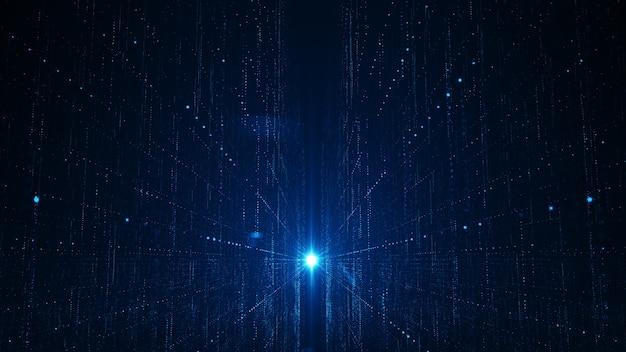 Concepto abstracto del fondo de los datos grandes de la tecnología.