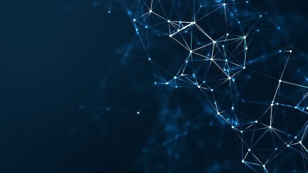 Concepto abstracto de la red de comunicación y tecnología.