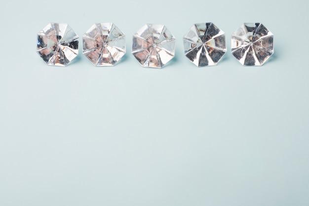 Concepto adorable de diamantes con estilo elegante