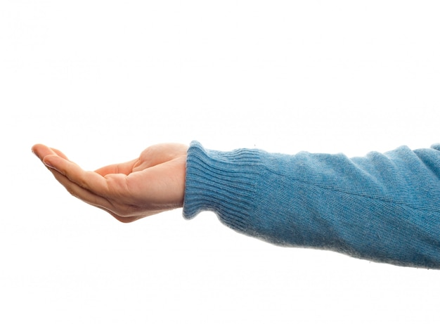 Concepto de agarre con la mano