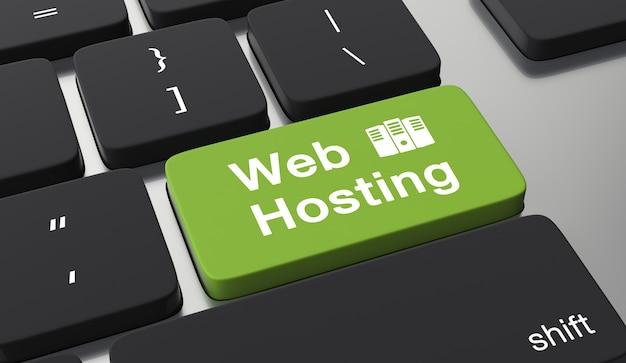Concepto de alojamiento web