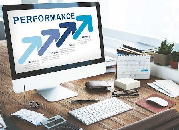 Concepto de análisis de planificación empresarial de estrategia