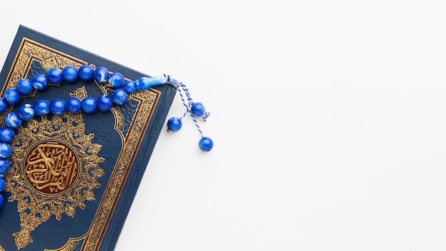 Concepto de año nuevo islámico con espacio de copia