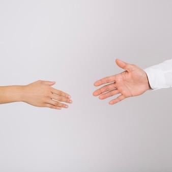 Concepto de apretón de manos