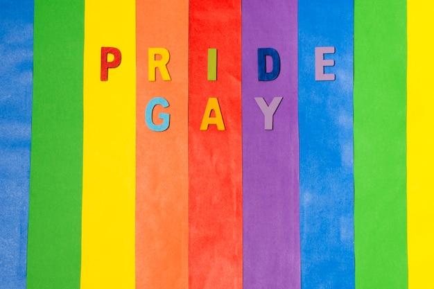 Concepto de arco iris colorido orgullo gay
