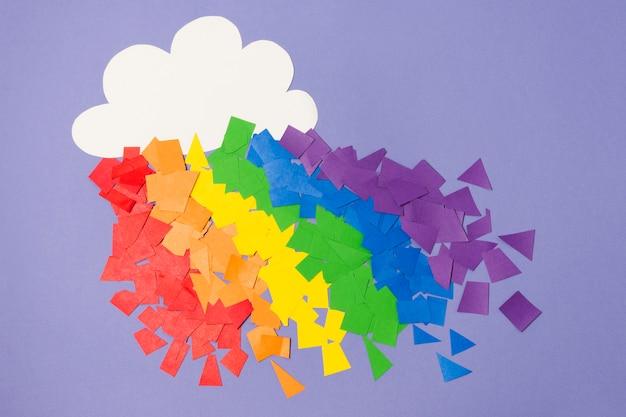 Concepto de arco iris del orgullo gay