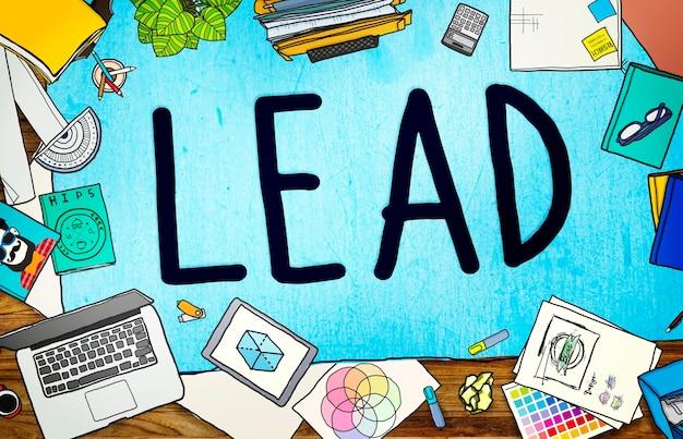 Concepto de asociación del equipo principal de liderazgo líder