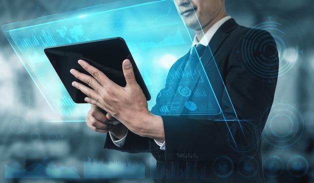 Concepto de big data technology for business finance.
