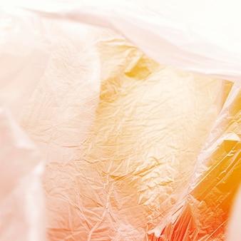 Concepto de bolsa de plástico abstracta de primer plano