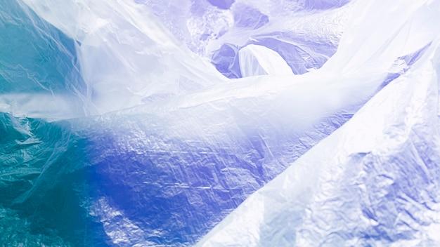 Concepto de bolsa de plástico abstracto azul