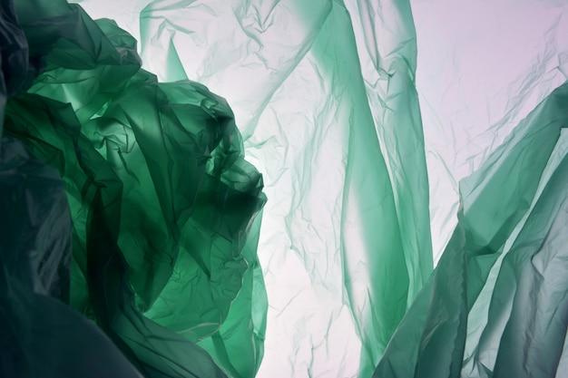 Concepto de bolsa de plástico. fondo abstracto con textura plástica.