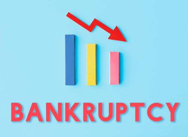 Concepto de caída de dificultad ridk de deuda