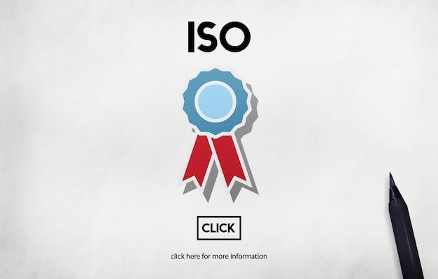Concepto de calidad de la organización de normas internacionales iso