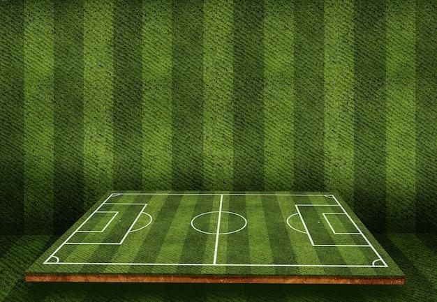 Concepto de campo de fútbol