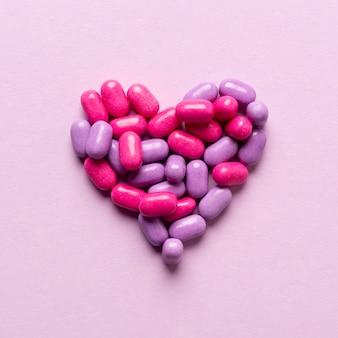 Concepto de caramelo delicioso corazón