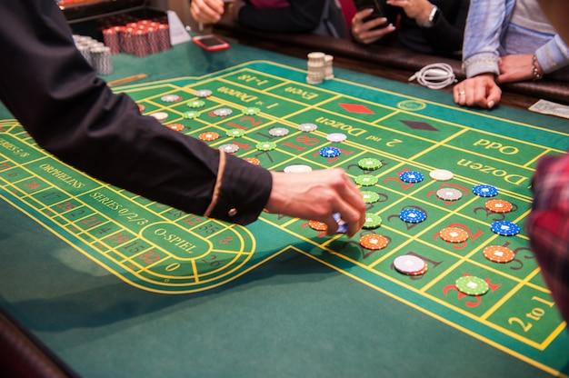 Concepto de casino, juegos de azar y entretenimiento