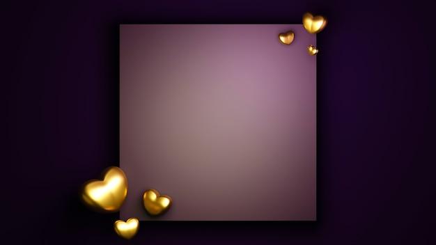 Concepto de celebración de eventos de aniversario sobre fondo rosa para mujeres felices, madre padre, dulce corazón,