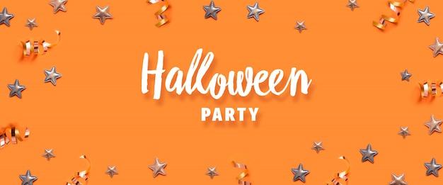 Concepto de celebración de fiesta de halloween con estrellas decorativas